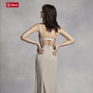 David's bridal bridesmaid dress, Open back.